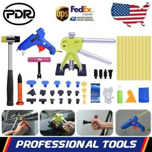Pdr Paintless Dent Removal Puller Lifter Hammer Glue Gun Car Repair Tools Kit Us