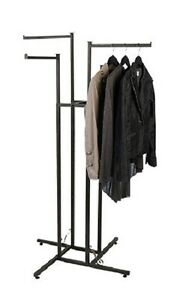 Clothes Rack Four Way 4 Straight Arms Clothing Garment Retail Display 72