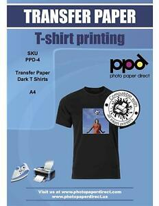 Ppd Inkjet Iron on Dark T Shirt Transfer Paper 8 5x11 X 50 ppd004 50
