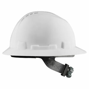 Lift Safety Briggs Full Brim Vented Hard Hat With Ratchet Suspension White