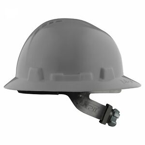 Lift Safety Briggs Full Brim Vented Hard Hat With Ratchet Suspension Grey