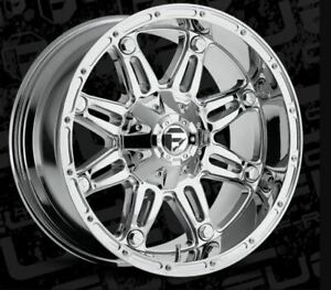 20x10 Et 18 Fuel D530 Hostage 8x170 Chrome Rims Set Of 4
