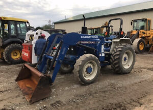 2007 Farmtrac 665dt 4x4 Utility Farm Tractor W Loader Only 1100 Hours