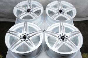 17 Wheels Beetle Jetta Corolla Legacy Cx 3 Is250 Prelude White Rims 5x114 3