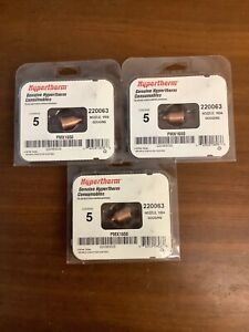 Hypertherm 3 Pack 1650 Plasma Cutter 100 Amp Gouging Nozzles 220063