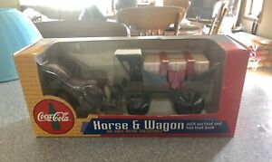 Vintage 1997 Coca Cola Horse and Wagon bank - New In Box