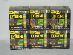Post it Extreme Notes Multi Color Water Resistant 45 Sheet Pads 12 Pads lot Of 6