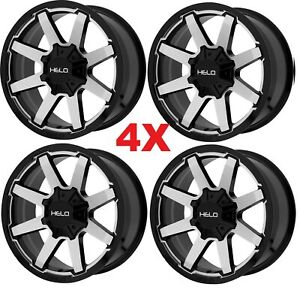20 Wheels Rims 6x132 6x120 6x127 Helo Moto Fuel Gear Xd