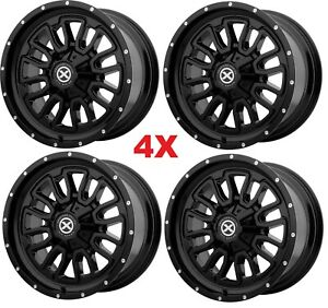 20 Black Wheels Rims 6x132 6x120 6x127 Moto Fuel Gear Xd