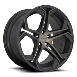 Foose Impala F168 20x9 5x108 Et38 Blk Mach Face And Double Dark Tint Qty Of 4