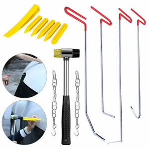 Pdr Spring Steel Puller Rods Hammer Paintless Dent Removal Car Repair Tools Kit
