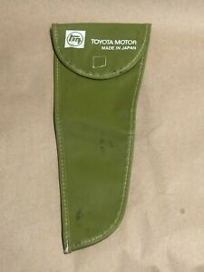 1 Vintage Auto Factory Toyota Jack Tool Case Bag Green Free Shipping