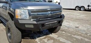 Hot Metal Fab Front Bumper With Winch Mount 2007 2013 Chevy Silverado 1500