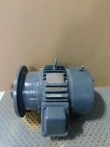 Ge Cone Drive Electric Motor 15 Hp 1750 Rpm 230 460 Volts 3 Ph 254t Frame