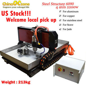 Cnc 6090 4axis 2 2kw Router Machine Steel Metal Engraving Milling cut Machine Us