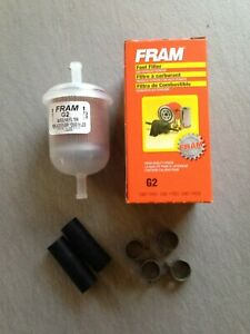 Fram G2 5 16 Plastic Inline Gas Fuel Filter Hoses Clamps Fits G12 Gf61 33002