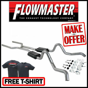 Flowmaster 17202 1964 1967 Chevelle Gto 442 Gs 3 Header back Dual Exhaust Kit