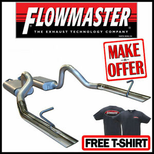Flowmaster 17203 1986 1993 Mustang Lx 5 0l 2 5 Force Ii Cat back Exhaust System