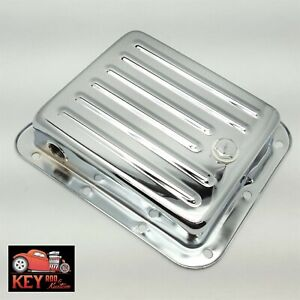 Pan Fill Ford C4 Chrome Automatic Transmission Pan Stock Depth Mustang Truck