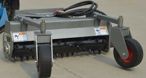 48 hyd Angle Power Rake For Dingo Boxer Ditch Witch Mini Skidsteer Harley