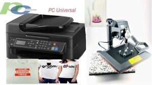 Pc Universal Sublimation Bundle With Printer heat Press For T shirt canvas Bags
