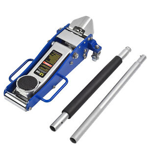 1 5 Ton Aluminum Ultra Low Steel Profile Floor Jack Pump Rapid Lift Racing Car