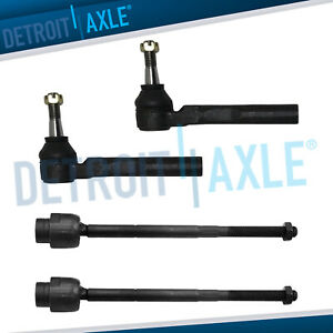 Front Inner Outer Tie Rod Ends For 2004 2012 Chevy Malibu Pontiac G6 Saturn Aura