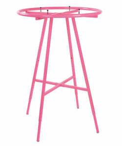 Round Clothing Rack Clothes Garment Retail Store Hot Pink