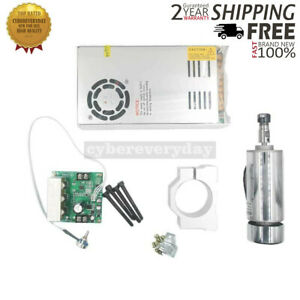 Cnc Spindle Motor pwm Speed Controller mount power Supply For Engraving Machine