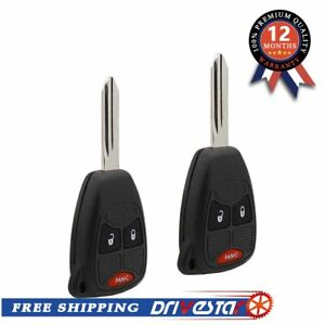 Set Of 2 Keyless Entry Remote Control Key Fob Replacement For Chrysler Jeep New