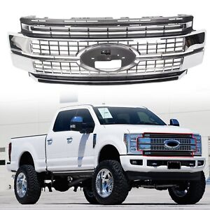 Fits 2017 2019 Super Duty F 250 F 350 F 450 Ford Bumper Chrome Grille Grill