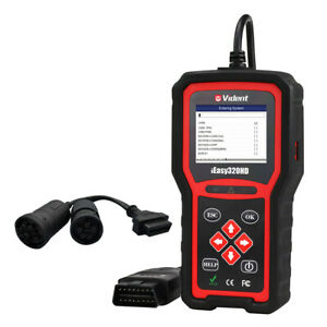 Heavy Duty Truck Obd2 Diagnostic Hd Code Reader Diesel Scanner Vident Ieasy320hd