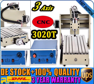 3axis 3020t Cnc Router Engraver Engraving Machine 3d 300w Motor Woodworking Ups