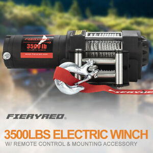 3500lbs Electric Winch Waterproof Steel Cable Line W Remote Control For Atv Ute