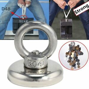 14 112kg Salvage Strong Recovery Magnet Neodymium Hook Treasure Hunting Fishing