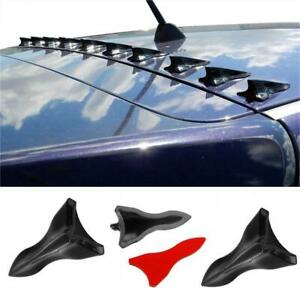 Parts Accessories Carbon Fiber Car Bumper Roof Spoiler Shark Fin Decor Sticker