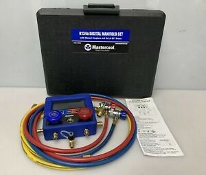 Mastercool Digital R134a A C Manifold Gauge Set With Hoses 99860