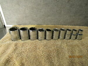 Sk Usa 1 2 Drive 10 Pc Sae Shallow Socket Set