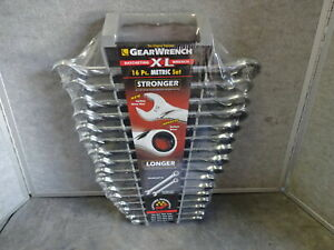 Gear Wrench Ratcheting Xl 16 Piece Metric Wrench Set 85099