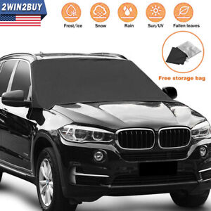 Magnet Car Windshield Snow Cover Sun Shade Winter Ice Dust Frost Guard Protector
