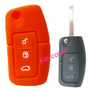 Orange Ford Flip Car Key Cover Suits Fiesta Focus Mondeo Xr6 Territory Falcon