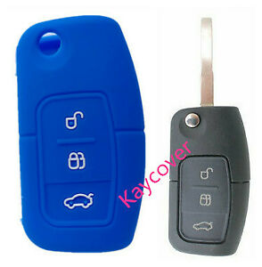 Blue Flip Car Key Cover Suits Ford Fiesta Focus Mondeo Xr6 Territory Falcon
