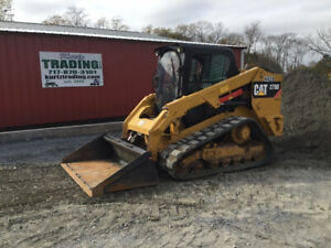 2015 Caterpillar 279d Compact Track Skid Steer Loader W Cab 2spd 3600 Hours