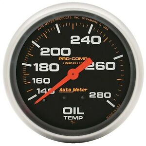 5441 Autometer 5441 Pro Comp Liquid Filled Mechanical Oil Temperature Gauge