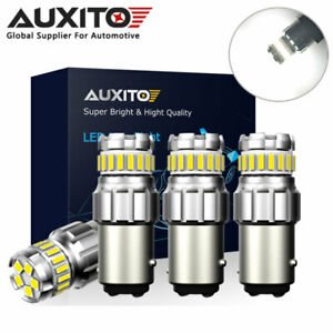 4x Auxito 1157 Bay15d 23smd Led Back Up Reverse Brake Drl Light Bulb 6500k White
