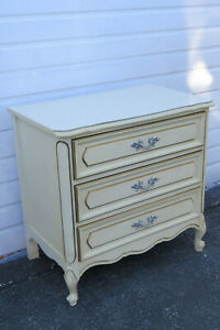 French Painted Large Nightstand Side End Table Small Dresser By Henry Link 9952