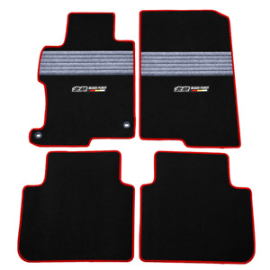 Fits 2013 2017 Honda Accord Nylon Floor Mats Carpets W Grey Strip
