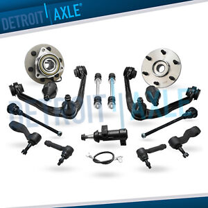 4wd Front Wheel Bearing Control Arms Kit For Chevy Silverado 1500 Gmc Sierra