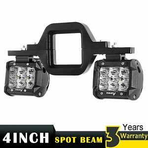 2x 4 Led Spot Off Road Lights Tow Hitch Mounting Bracket For Dual Led Reverse