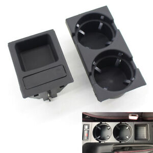 Black Front Center Console Cup Drink Coin Holder For Bmw 3 Series E46 98 06 Usa